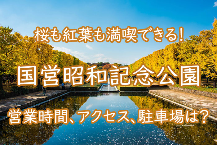 国営昭和記念公園で桜や紅葉を満喫!アクセスや開園時間をチェック!