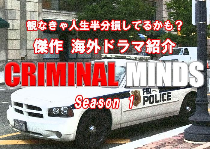【傑作】海外ドラマ『クリミナルマインド』シーズン1あらすじと名言