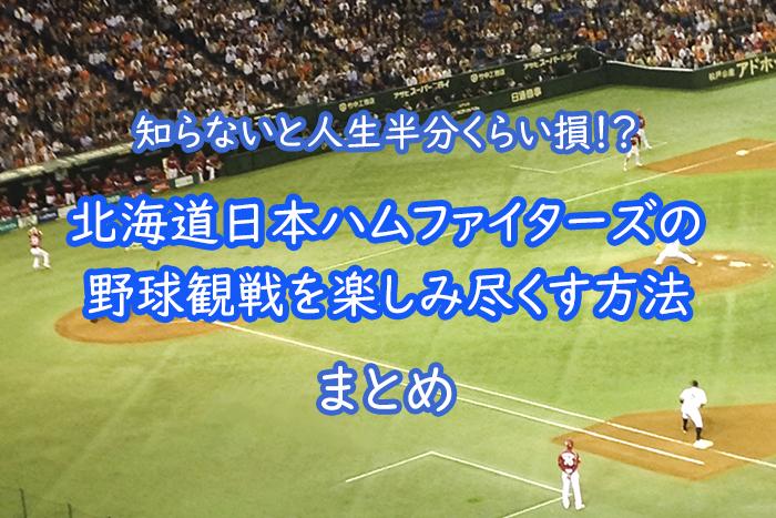 北海道日本ハムファイターズの野球観戦を楽しみ尽くす方法まとめ