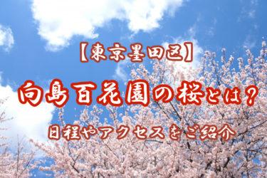 【東京墨田区】向島百花園の桜とは?日程やアクセスをご紹介します