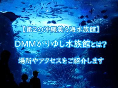 DMMかりゆし水族館とは?場所は?第2の沖縄美ら海水族館になる?