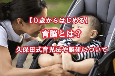 育脳とは?0歳からはじめる久保田式育児法や脳研についてご紹介!