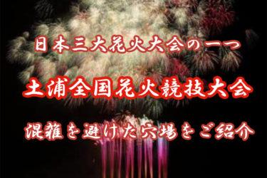 土浦全国花火競技大会とは?混雑を避けた穴場についてご紹介します!