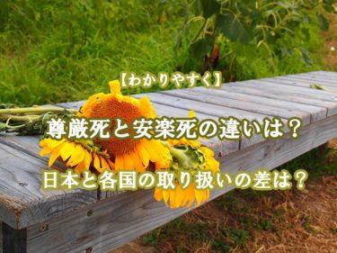 尊厳死と安楽死の違いは?日本と各国の取り扱いの差もわかりやすく