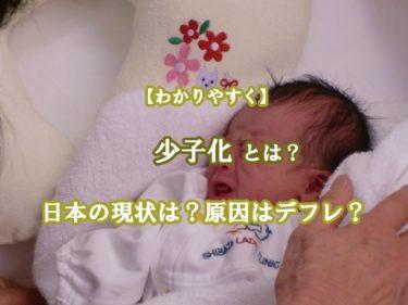 少子化とは?日本の現状は?原因はデフレなのか?わかりやすく解説