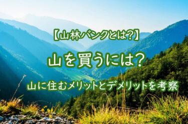 山を買うには?山林バンクとは?山に住むメリットとデメリットを考察