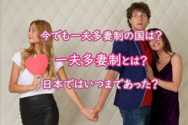 一夫多妻制とは?日本ではいつまであった?今でも一夫多妻制の国は?